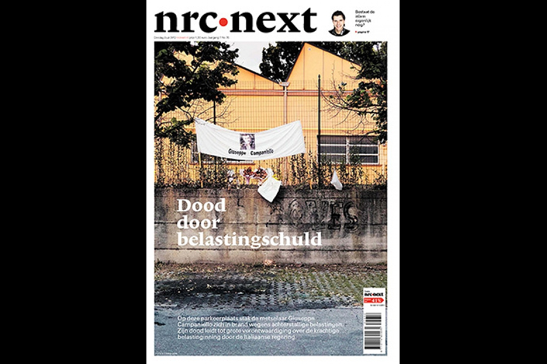 NRC Next, coverstory, text Eefje Blankevoort, July 2012. Death as result of taxdebt.