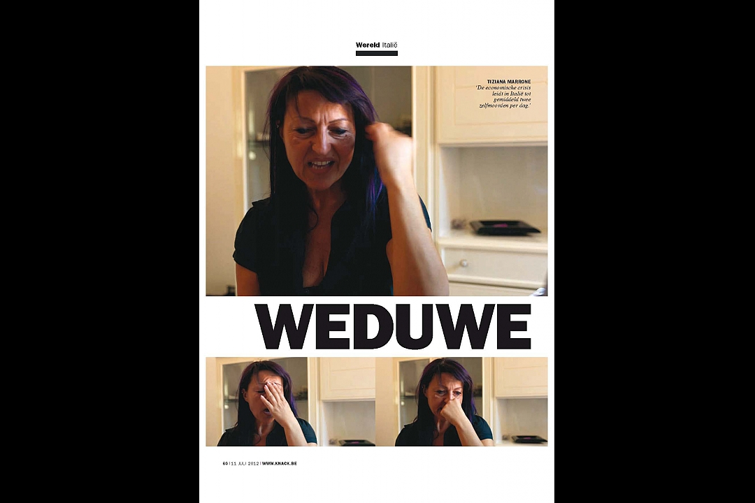 Knack, België, text Eefje Blankevoort, July 2012. Widow of the Crisis