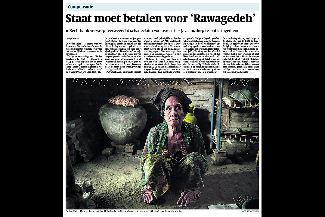 Trouw, September 15th 2011: Government has to pay for `Rawagedeh`
