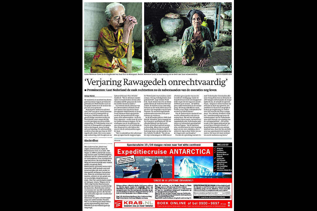 Trouw, June 17th 2011: `Satute of limitation Rawagede unjust`