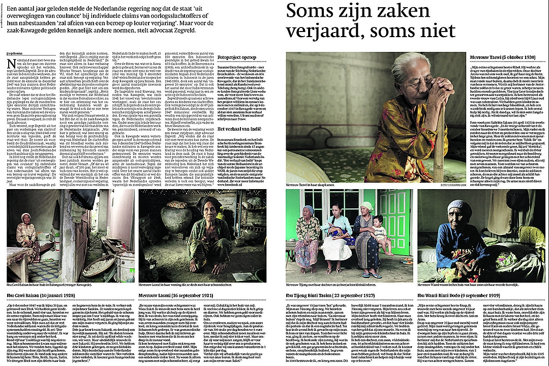 Trouw, August 23rd, 2010: Sometimes cases are statute-barred, sometimes they are not